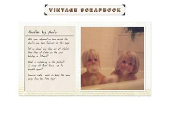Vintage Photo Album PPT Template