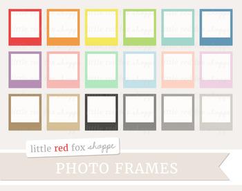 Vintage Photo Grame Clipart; Label, Tag, Picture, Photograph, Retro