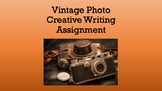 Vintage Photo Writing Assignment PowerPoint with inspiration and examples