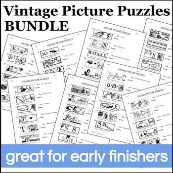 Vintage Picture Puzzles Bundle
