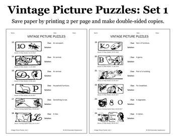 Vintage Picture Puzzles: Set 1
