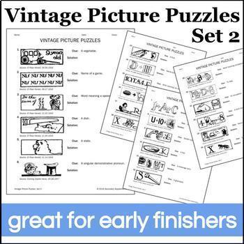 Vintage Picture Puzzles: Set 2