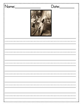 Vintage Picture Writing Prompts Writing Center Task Cards Ideas