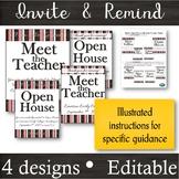 EDITABLE Invitation & Reminder Flyers for Meet the Teacher