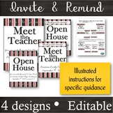 EDITABLE Invitation & Reminder Flyers for Meet the Teacher & Open House