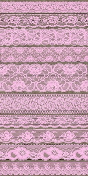 Vintage Pink Lace Borders Clipart Shabby Chic Overlays Embellishments