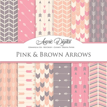 Vintage Pink Digital Paper patterns tribal arrows pastel scrapbook background