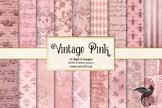 Vintage Pink Textures digital paper