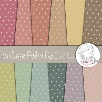Vintage Polka Dot - Digital Papers