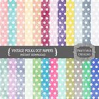 Vintage Polka Dot Paper Pack