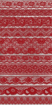 Vintage Red Lace Borders Clipart Scrapbook Embellishments