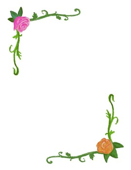 Floral Clipart and Stationery