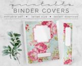 Vintage Roses BINDER COVER | Google Slides Template | DIY