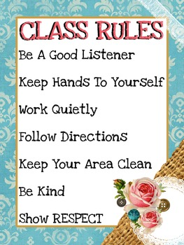Vintage Shabby Chic Class Rules