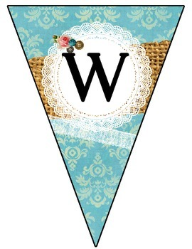 Vintage Shabby Chic Welcome Banner