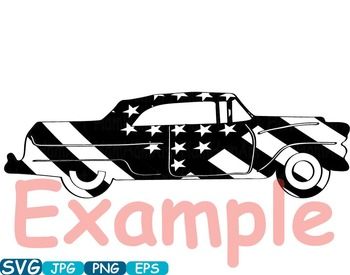 Vintage Sport Cars Hot Rod Sport 4th of July clipart birthday patriotic -336S