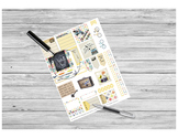 Vintage Sticker Printable for HP and EC Teacher Planners