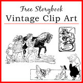 Vintage Storybook Clipart | Farm Animals, Children | Illustrations | PNG
