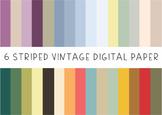 Freebie - Vintage Striped - Digital Paper