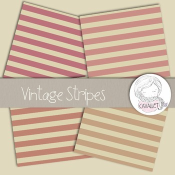 Vintage Stripes - Digital Papers