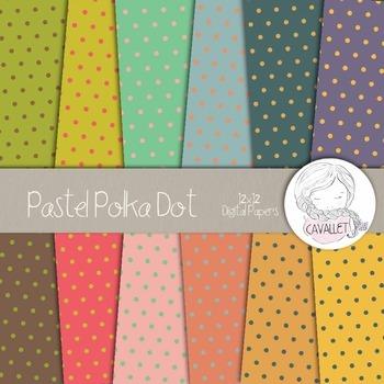 Pastel Polka Dot - Digital Papers