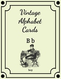 Vintage Style Alphabet Flashcards