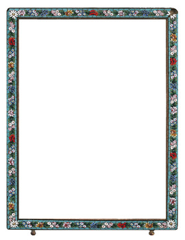 Frames - Vintage Style - Italian Micro Mosaic Colorful Flowers