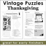 Vintage Thanksgiving Puzzles