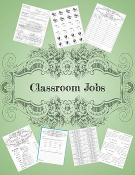 Vintage Theme Classroom Jobs