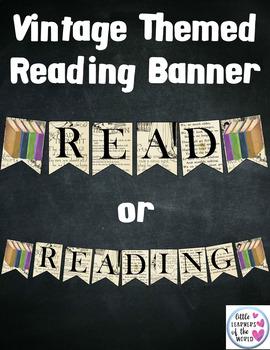 "Vintage Theme ""Reading"" Banner Classroom Decor"