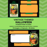 Vintage-Themed Halloween PowerPoint Templates