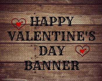 Vintage Themed Happy Valentine's Banner