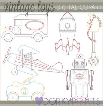 Vintage Toys Clip Art