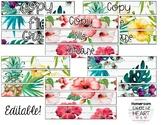 Vintage Tropical Sterlite Drawer Labels - Editable!