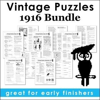 Vintage U.S. History Puzzles: 1916 Bundle