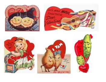 Vintage Valentine Cards to Print