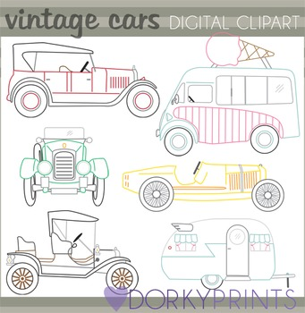 Vintage Vehicles Clip Art