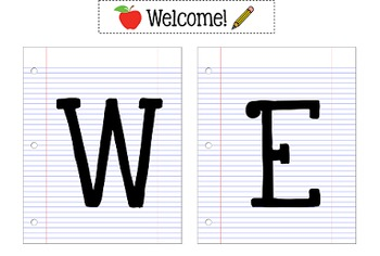 Vintage Welcome Banner {Back to School}