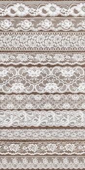 Vintage White Lace Borders Clipart Scrapbook Embellishments
