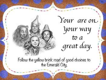 Vintage Wizard of Oz #toocute  Behavior Clip Chart