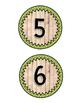 Vintage Wood Number Line Labels