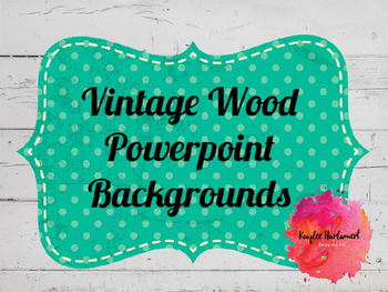 Vintage Wood Powerpoint Backgrounds