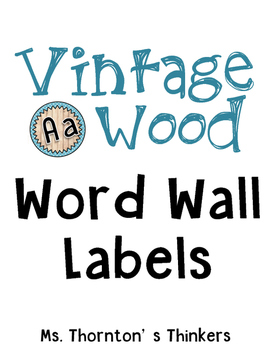 Vintage Wood Word Wall Labels