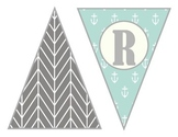 Vintage Word Wall & Classroom Numbers - Coral, Gray, Turquoise