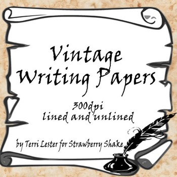 Vintage Writing Papers: for Journals, Books and Scrolls ab