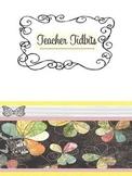 Vintage black floral graphic printables and power point slides
