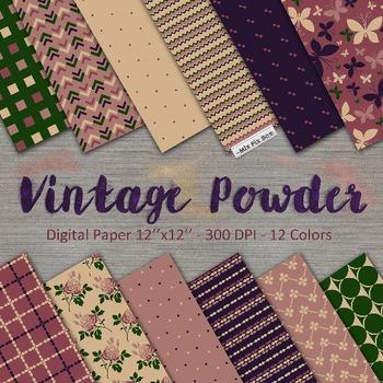 Vintage colors digital paper