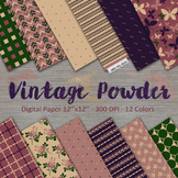 Vintage colors digital paper