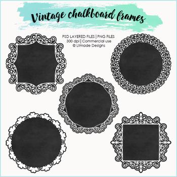Vintage digital frames, vector frames, frames clipart