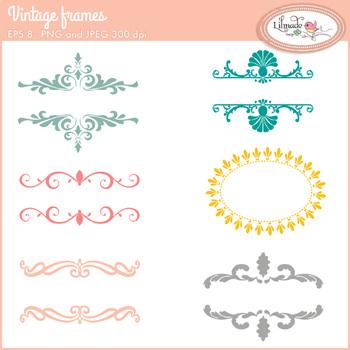 Vintage frames, vintage label frames, vector frames